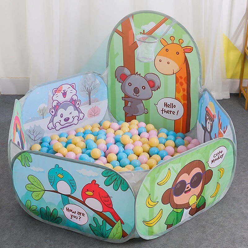 Kids Ball Pit Large Pop Up Toddler Ball Pits Tent for Toddlers Girls Boys for Indoor Outdoor Baby Playpen w/ Zipper Storage Bag