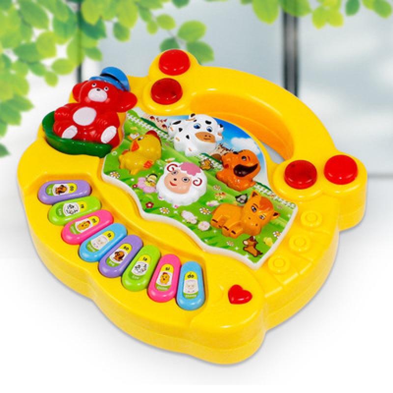 【COD】New Kids Cute Music Cartoons Pattern Toy piano