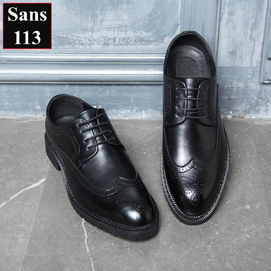Giày Da Thật Giày Oxford Da Bò Siêu Cao Cấp Sans Shop Sans113