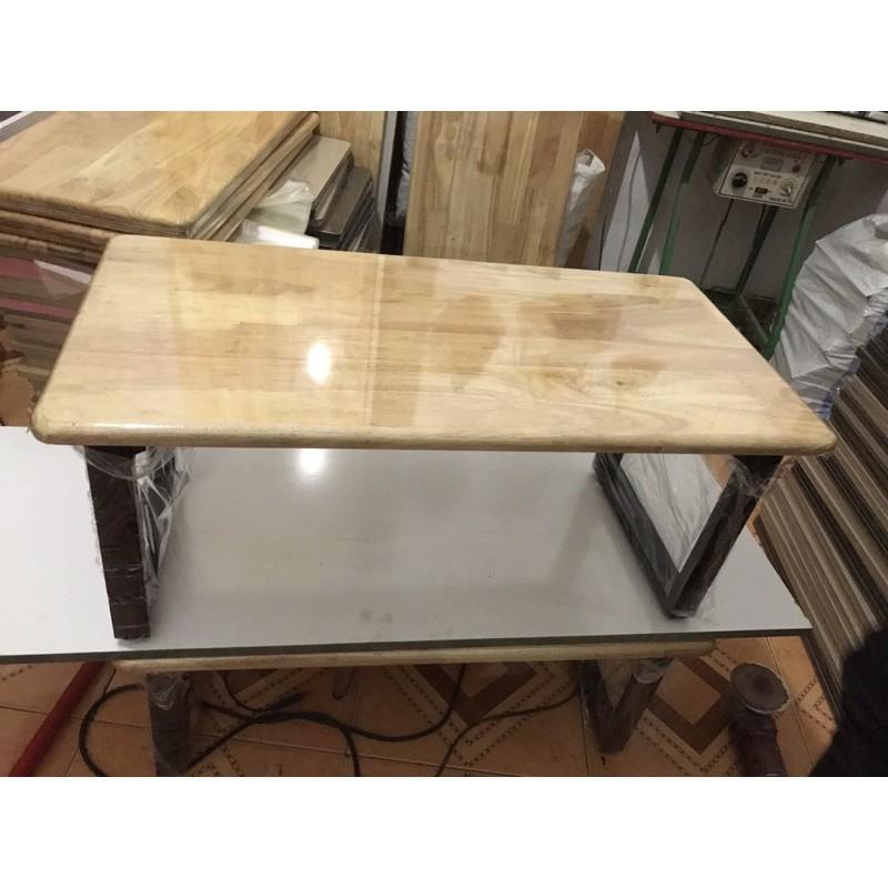 Bàn làm việc, bàn học, bàn ăn gấp gọn {GIÁ TẠi XƯỞNG} chân sắt ngồi bệt gỗ cao su (50*100 cao