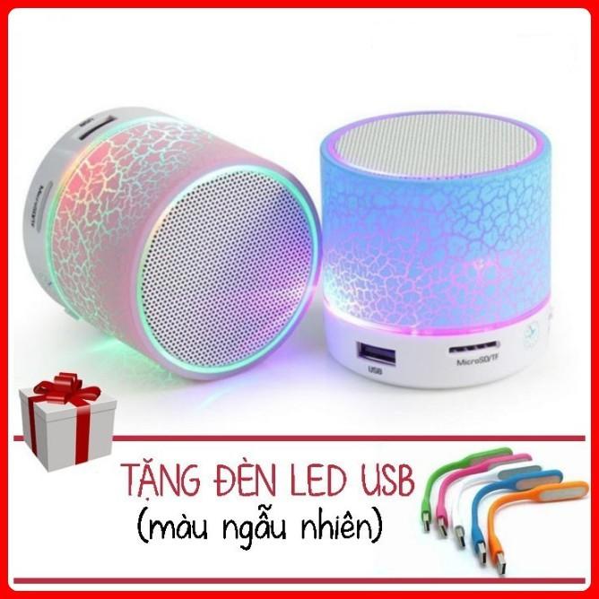 (Miễn Phí Vận Chuyển) Combo 2 Loa mini bluetooth led nháy theo nhạc (Tặng Đèn LED USB)
