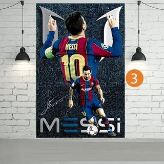 [Mã MASKFEB hoàn 15% đơn 99K tối đa 30K xu] Decal dán tường Messi phiên bản mới (ảnh HD)