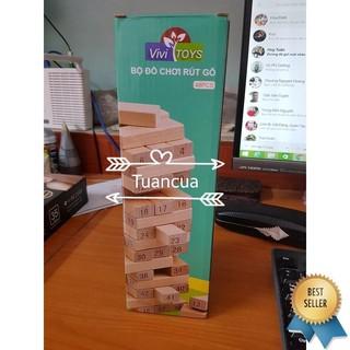 [Nhập TOYAPR10K giảm ngay 10K]đồ chơi rút gỗ 48 miếng nặng 1kg – RẺ NHẤT HÀ NỘI