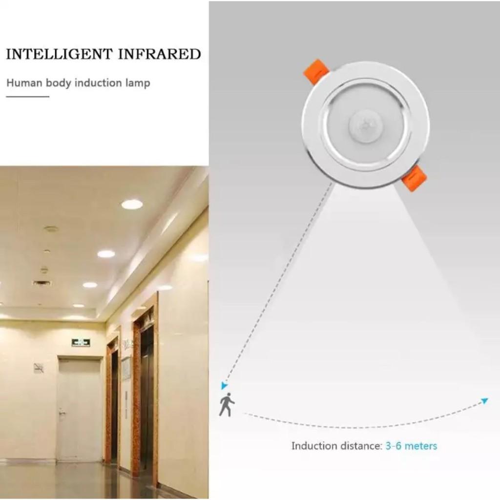 Đèn LED Âm trần Downlight cảm ứng hồng ngoại tại Cao Bằng