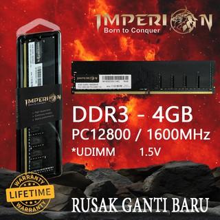 Ram Pc 4gb Ddr3 Imperion Ram 1600 Mhz Pc12800 Ram 1.5v Udimm thumbnail