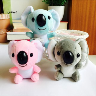 10cm Cute Mini Koala Plush Toy Fluffy Stuffed Animal Doll Key Chain Pendant
