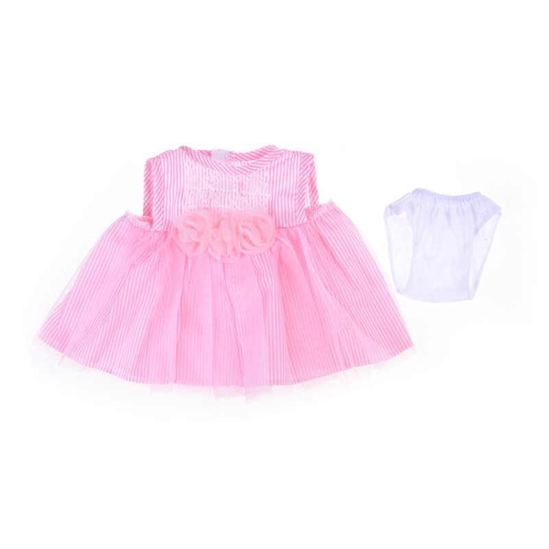 [BEW] Handmade Pink Flower Summer Dress Doll Clothes Fits All 18 inch Toy Doll Gift [OL]
