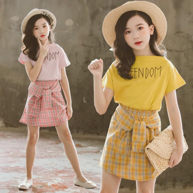 Trendy Korean-style baby girl outfit and skirt