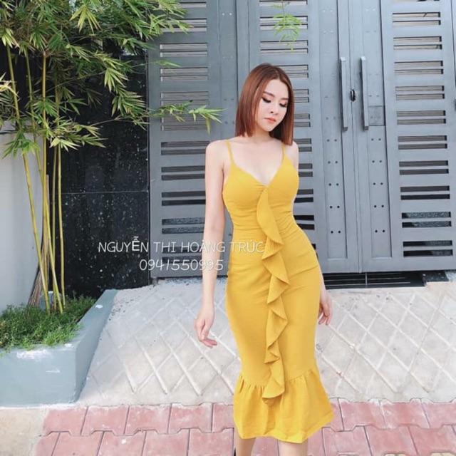 Đầm body bèo dọc body đủ màu