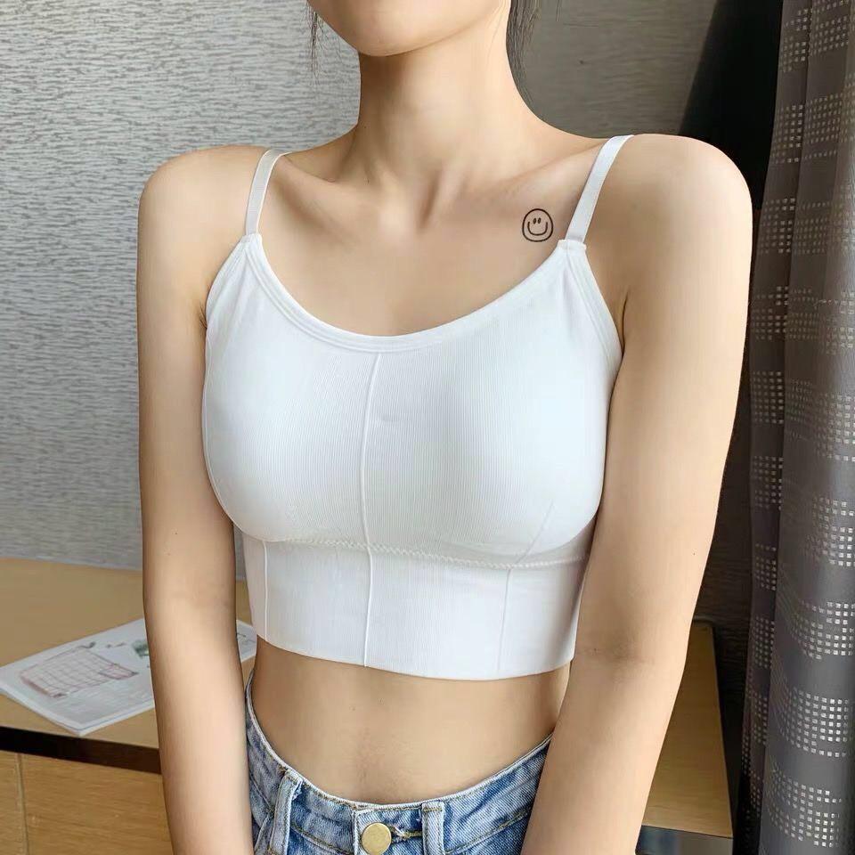 Áo tập Gym, Áo bra nữ áo bra len gân tăm đẹp 2 dây hở lưng khoét lưng