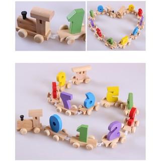 Tàu lửa gắn số 0-9 bằng gỗ cho bé_SocNhi