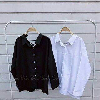 Áo sơ mi đen và trắng
