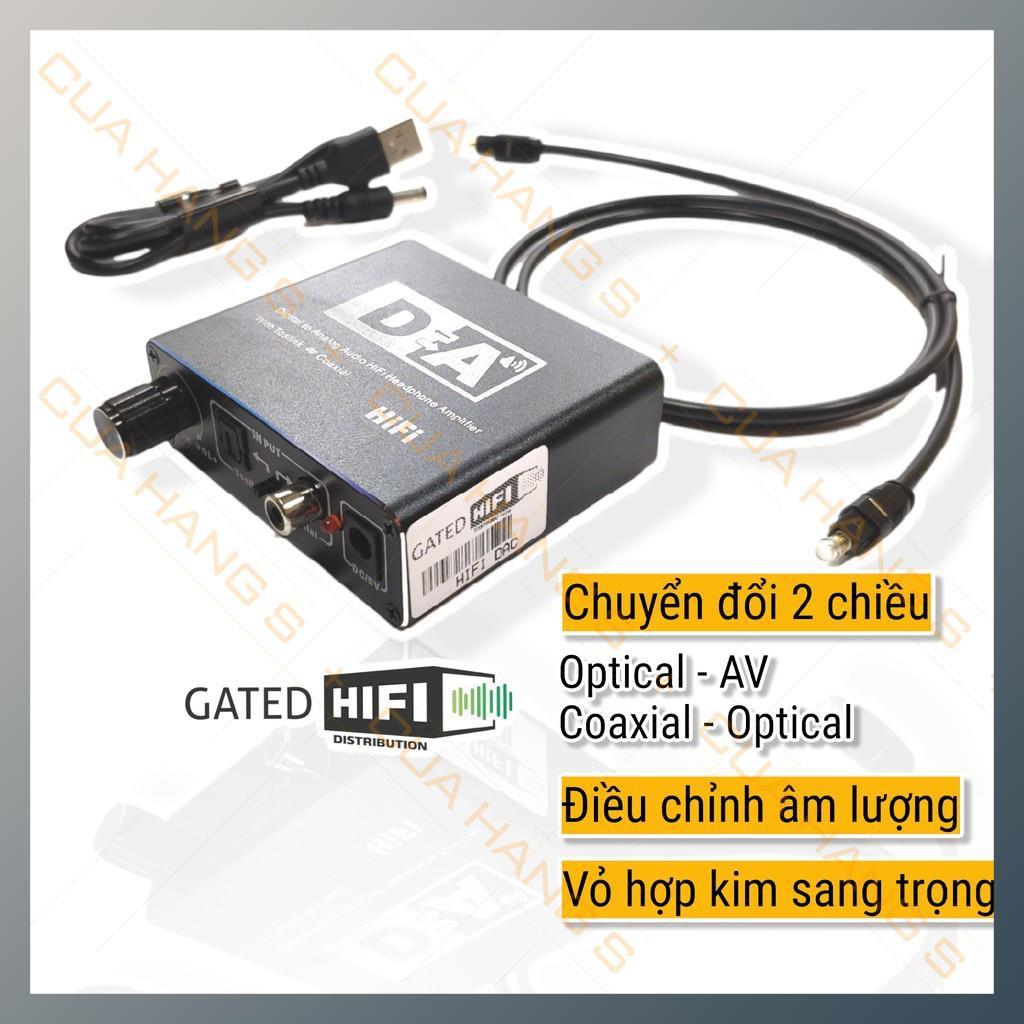 Bộ chuyển đổi âm thanh quang 2 chiều cao cấp HIFI dùng cho Tivi có cổng Optical