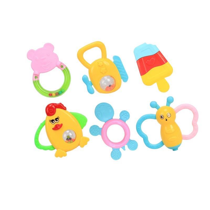 Bộ 6 chuông lắc đồ chơi cầm tay cho bé