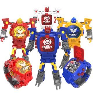 FH Robot Watch Jam Tangan Transformers Toy Electronic Watch Kids Game Toys Gift