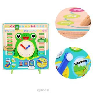 Develop Cognition For Kids Home Kindergarten Learning Non Toxic Teaching Wooden Calendar Clock