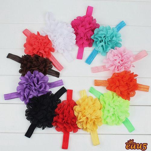 ☜♠☞Kid Girl Baby Headband Toddler Lace Bow Flower Hair Band Accessories Headwear