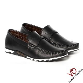 Giày mọi da bò màu đen trẻ trung KT555 thumbnail