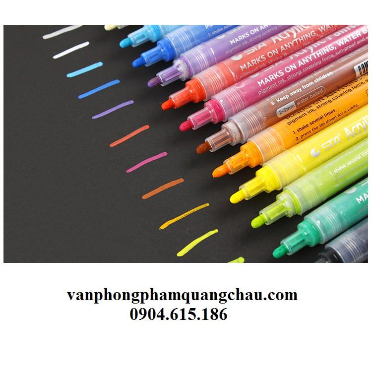 Bút sơn màu Acrylic, nét 2mm (01 chiếc)