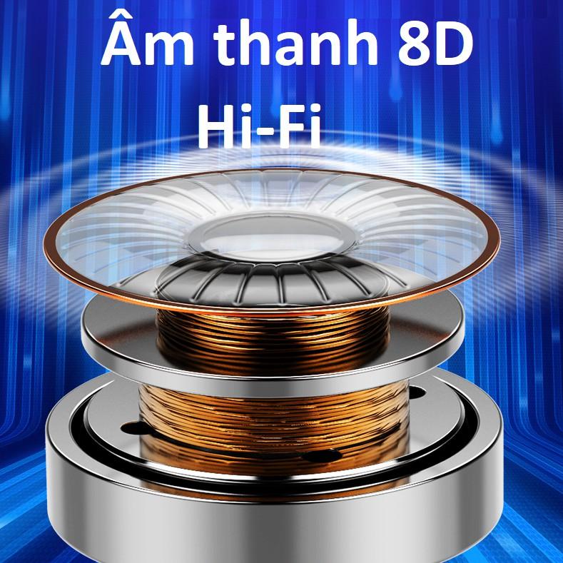 Tai nghe bluetooth cảm ứng cao cấp Amoi V11 âm thanh vòm 8D