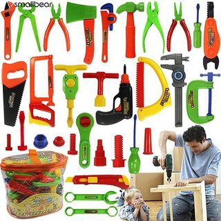 💮🐬Kids Play Pretend Toy Tool Set Workbench Construction Workshop Toolbox Tools