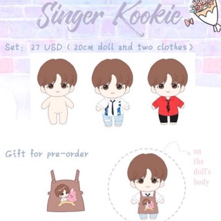[BTS FANSITE DOLL] FULLSET SINGERKOOK