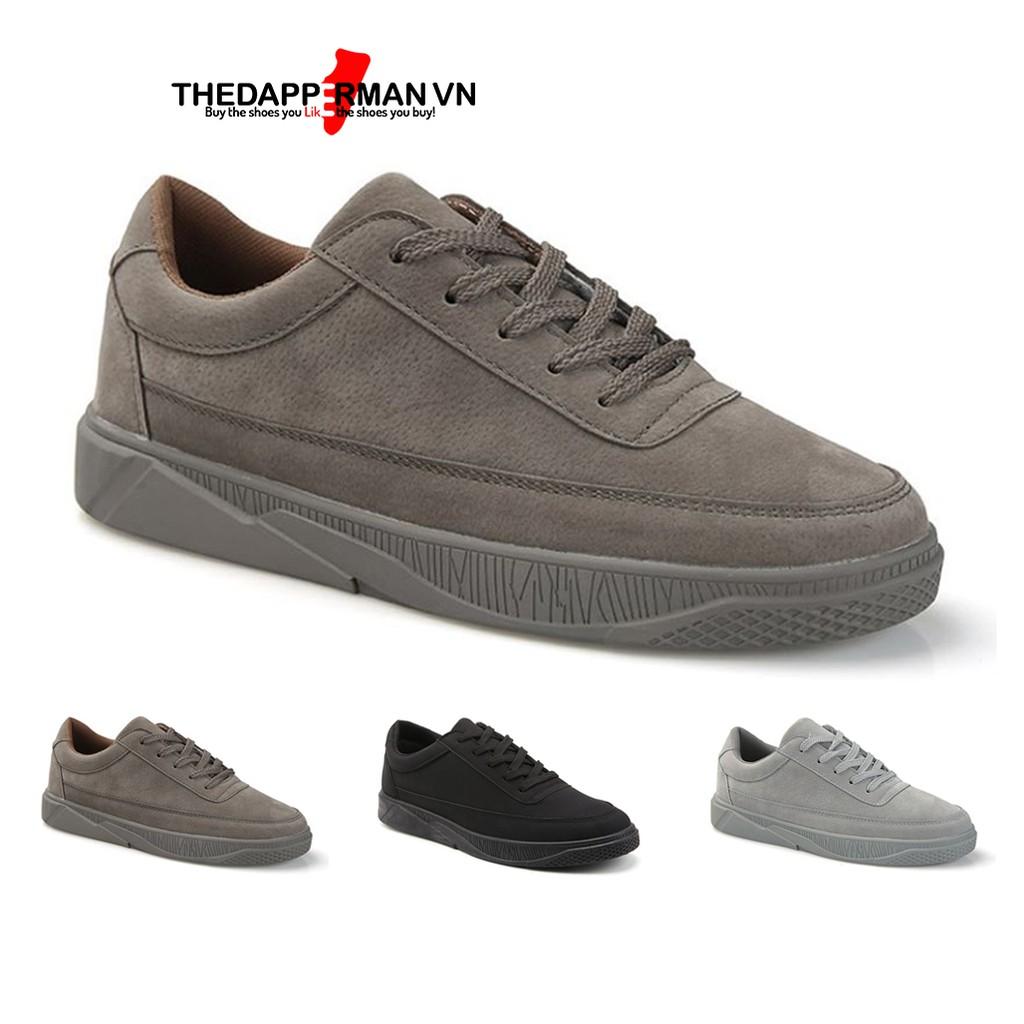 Giày thể thao sneaker nam THEDAPPERMAN TDM1101 chất liệu da lộn, đế cao su nhiệt dẻo, siêu êm phù hợp chạy bộ, màu nâu