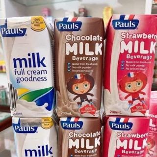 Sữa tươi Pauls Úc hộp 200ml