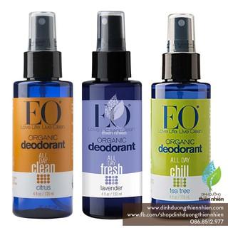 Chai Xịt Khử Mùi Hữu Cơ EO Organic Deodorant Spray, 120ml
