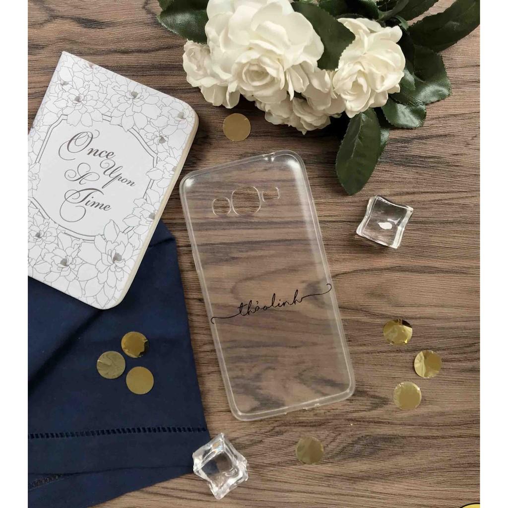 Ốp in tên siêu dễ thương cute cho cặp đôi in cho iPhone/Samsung/Oppo