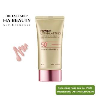 (AUTH)Kem chống nắng Nâng tông da PINK TONE UP SUN CREAM SPF50+ PA++++ The Face Shop