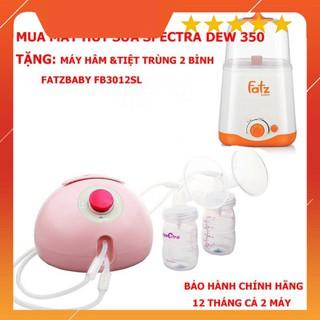 Mua Máy Hút Sữa Spectra Dew 350 tặng Máy Hâm Nóng Và Tiệt Trùng 2 Bình Cổ Rộng FatzBaby FB3012SL thumbnail