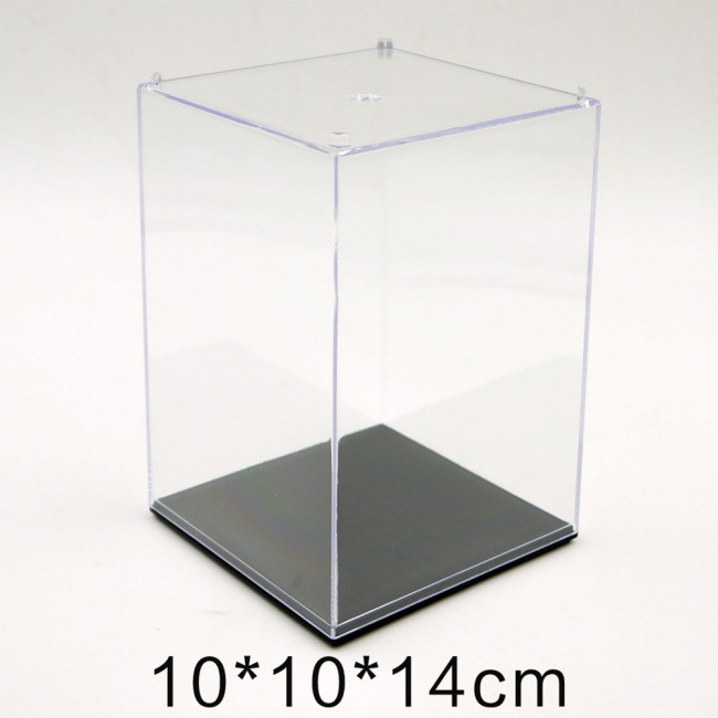Figures Protection Showcase Single Sale Display Box with Base Plate for Cartoon