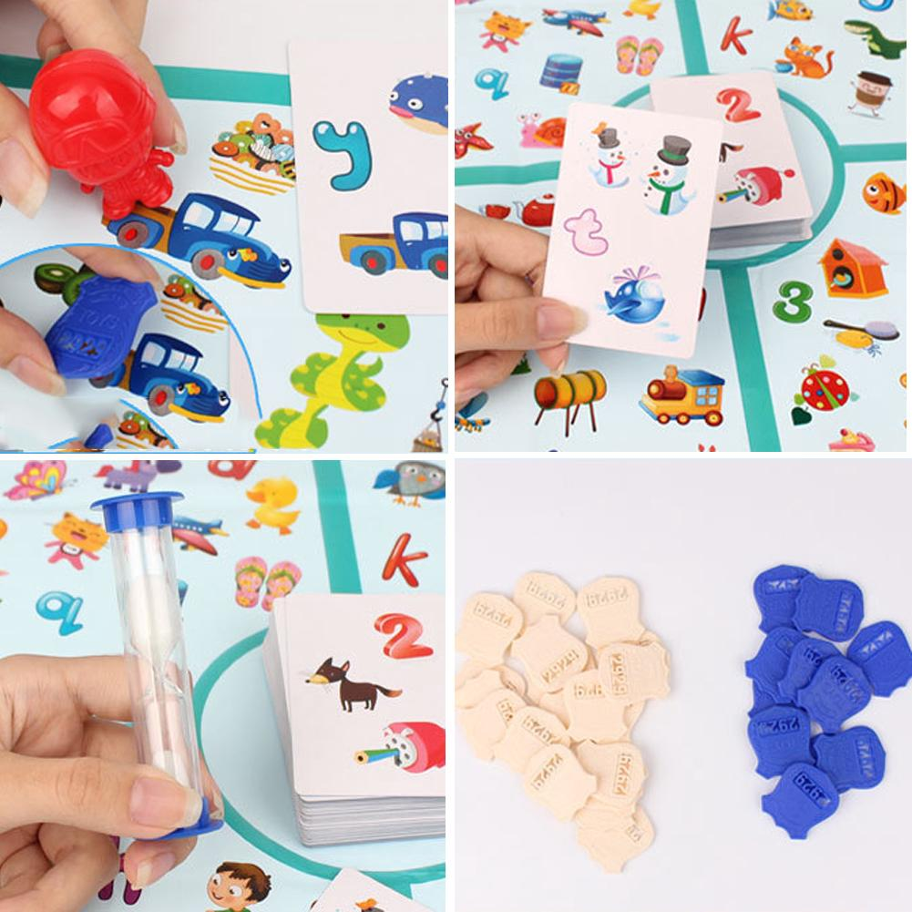 Fun Gifts Family Education Game Interactive Multiplayer Brain Training Portable Kids Detectives Looking Chart Board