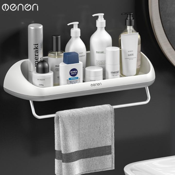 Kệ phòng tắm kệ treo đồ kệ để đồ OENON cao cấp lắp đặt dán tường không cần khoan khay đựng đồ phòng tắm tiện lợi