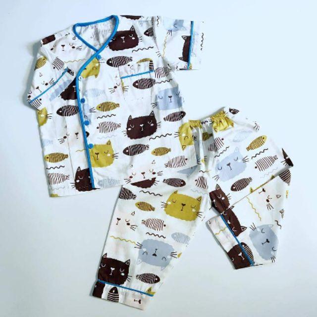 Pyjama cho bé, họa tiết mèo xinh, vải thô lụa Hàn 100% cotton mềm mịn, thoáng mát, thấm hút mồ hôi. - 14281340 , 2347505824 , 322_2347505824 , 120000 , Pyjama-cho-be-hoa-tiet-meo-xinh-vai-tho-lua-Han-100Phan-Tram-cotton-mem-min-thoang-mat-tham-hut-mo-hoi.-322_2347505824 , shopee.vn , Pyjama cho bé, họa tiết mèo xinh, vải thô lụa Hàn 100% cotton mềm m