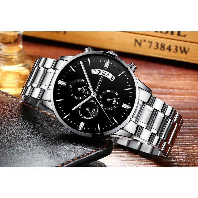 Đồng hồ nam chính hãng FNGEEN tuyệt đẹp, giảm giá sốc, kiểu dáng thời trang lịch lãm (MÃ: FN01)