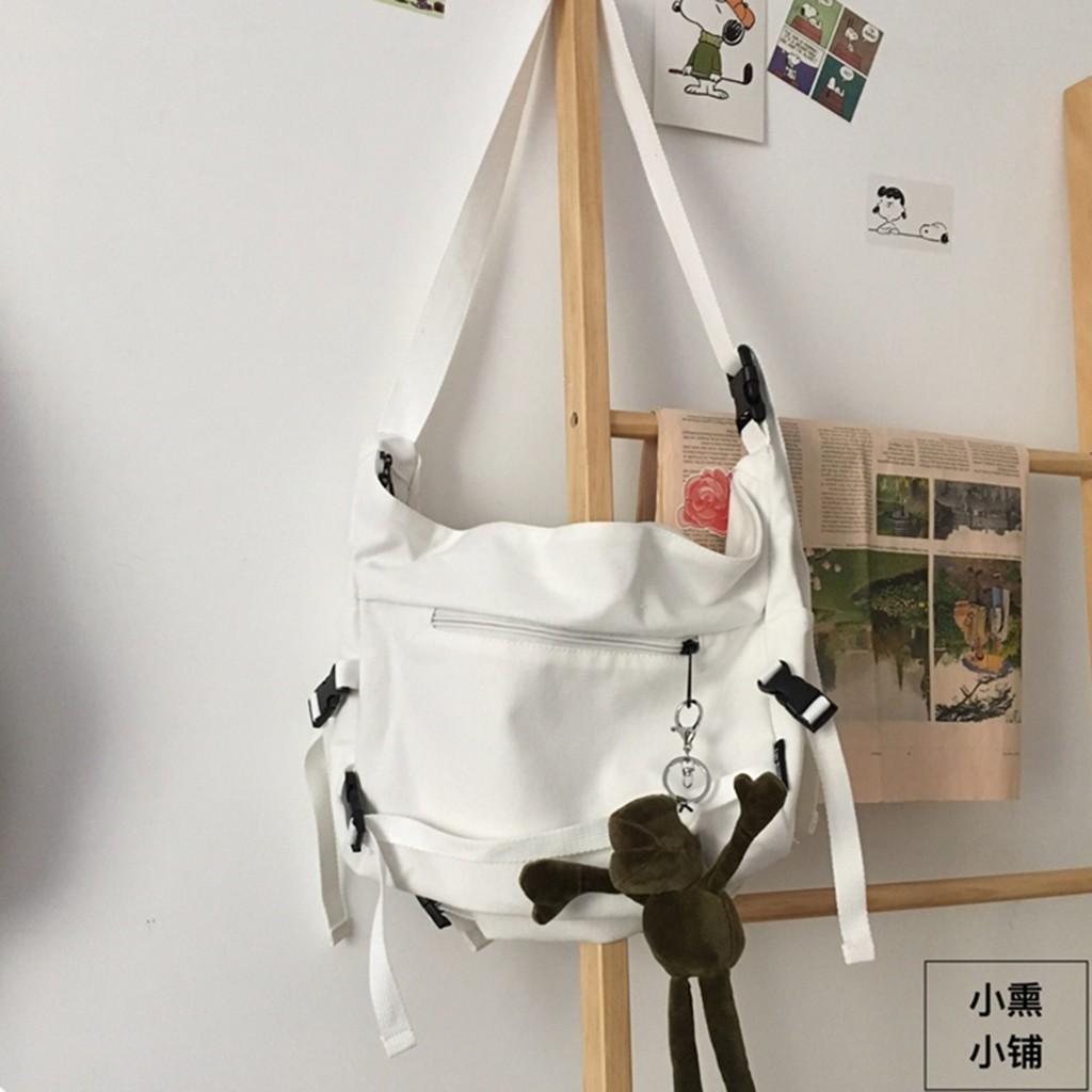 Túi Đeo Chéo Canvas Cỡ Lớn Thời Trang Hàn Quốc Học Sinh Sinh Viên