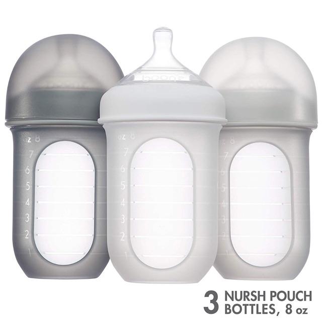 Bình sữa SILICONE BOON NURSH 240ml (3 bình - tác