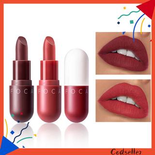 CODseller FOCALLURE 2Pcs Long Lasting Moisturizing Matte Lip Gloss Mini Capsule Lipstick