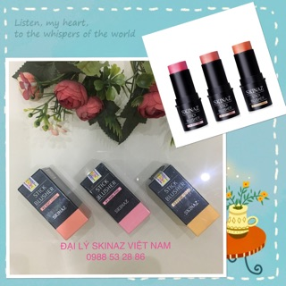 Kem má hồng cao cấp Stick Blusher Skinaz Hàn Quốc chính hãng 8g ( Hàn Quốc )