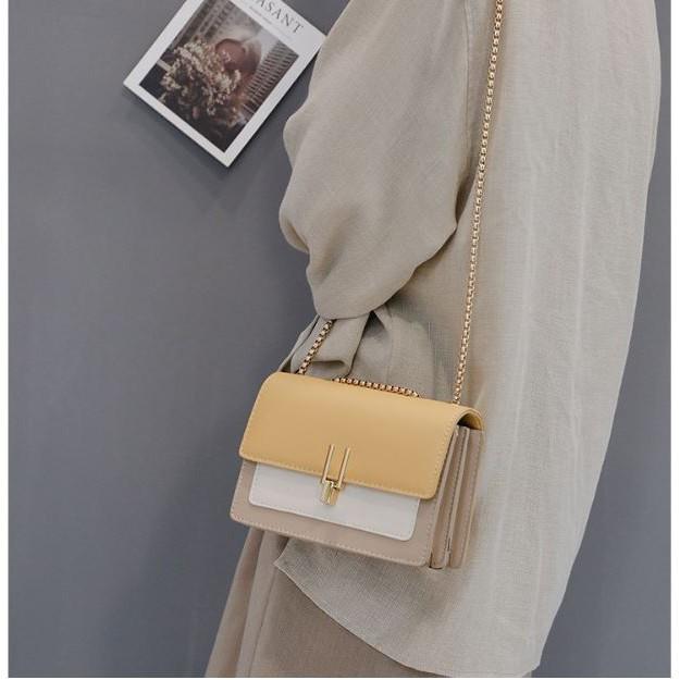Túi Xách Nữ Đeo Chéo ❤️FREESHIP❤️ Giảm 20k khi Nhập Mã [MCC 20k ] Túi Đeo Chéo Nữ Phối Màu Vintage