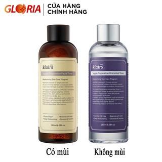 Nước hoa hồng Klairs Supple Preparation Facial Toner 180ml