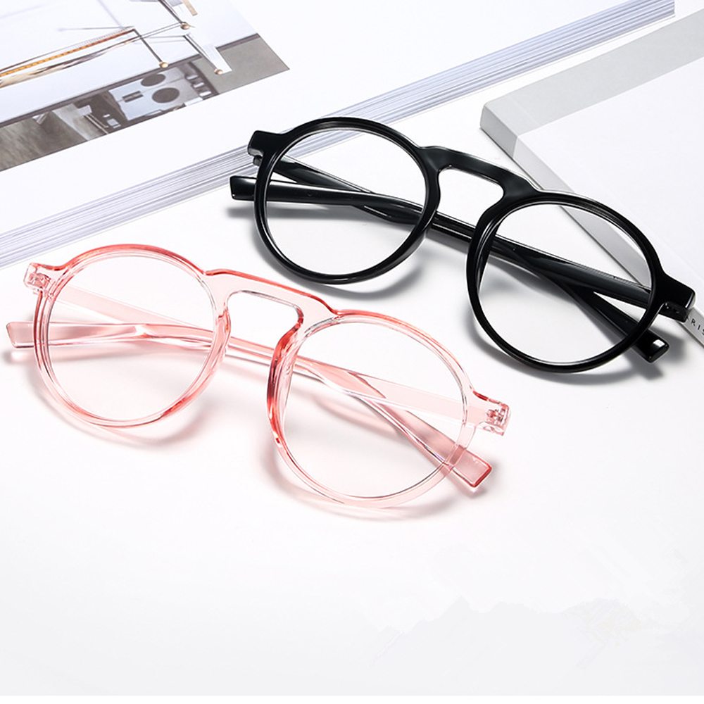 👗KAREN💍 Improve Comfort Radiation Protection Ultralight PC Frame Round Frame Transparent Anti Blue Ray Glasses