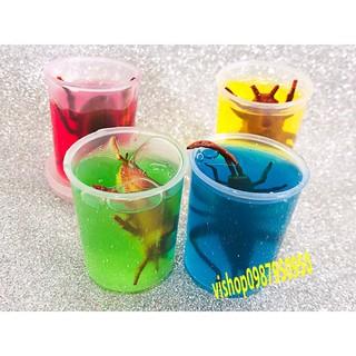 đồ chơi slime sâu bọ côn trùng – lọ slime dẻo mã UNO89 Rrẻ (đẹp)