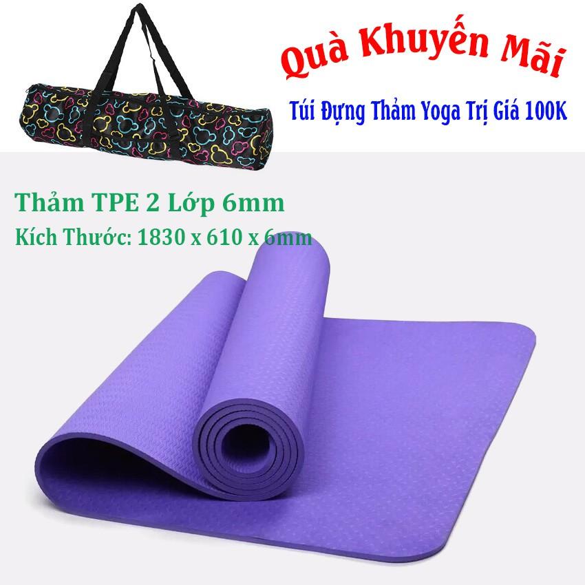 [Free Ship] Thảm Yoga 1 Lớp TPE + Túi Đựng HLB (Tím) - 2786645 , 1060474937 , 322_1060474937 , 334000 , Free-Ship-Tham-Yoga-1-Lop-TPE-Tui-Dung-HLB-Tim-322_1060474937 , shopee.vn , [Free Ship] Thảm Yoga 1 Lớp TPE + Túi Đựng HLB (Tím)