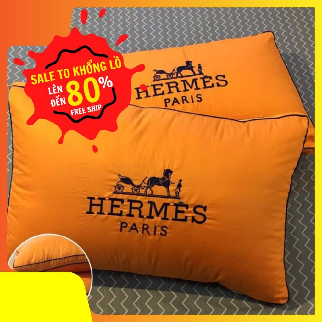 COMBO 2 GỐI LÔNG VŨ HERMES PARIS CAO CẤP
