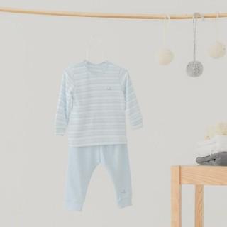 Bộ quần áo dài tay cài vai Bamboo by LIL áo kẻ quần trơn thumbnail