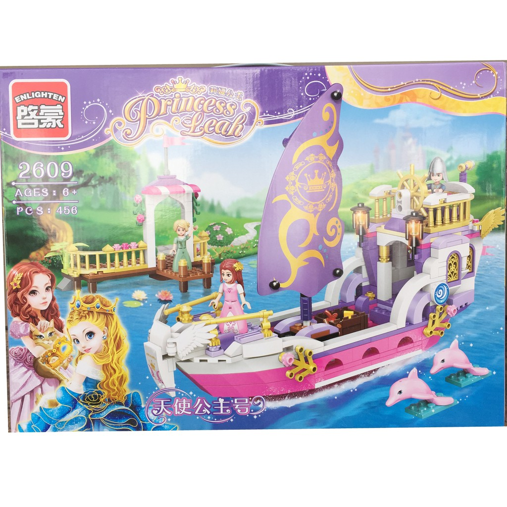 Lego xếp hình Princess - Công chúa trên thuyền buồm 456 chi tiết
