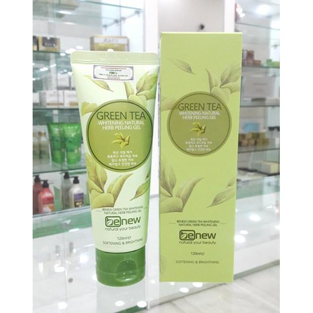 Tẩy Tế Bào Chết Trà Xanh Hàn Quốc Benew Green Tea Peeling Gel 120ml - TBC01